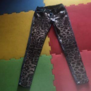 Sparkle skinny jeans